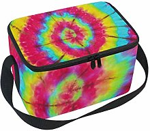 Use7 Rainbow Tie Dye Insulated Lunch Bag Tote Bag