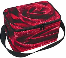 Use7 Red Rose Drop Water Insulated Lunch Bag Tote