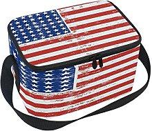 Use7 Retro Star Striped American Flag Insulated