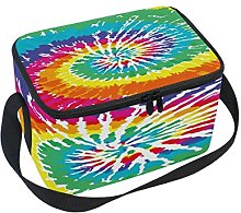 Use7 Tie Dye Rainbow Watercolor Insulated Lunch