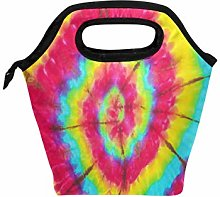 Use7 Tie Dye Swril Rainbow Insulated Lunch Bag