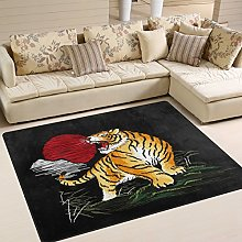 Use7 Tiger Sun Japanese Style Area Rug Rugs for