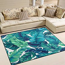 Use7 Tropical Leaves Summer Area Rug Rugs for