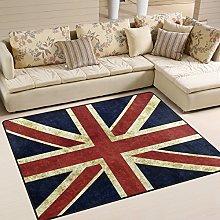 Use7 Vintage Union Jack British Flag Area Rug for