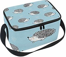 Use7 Watercolor Hedgehog Animal Insulated Lunch