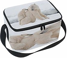 Use7 White Polar Bear Winter Snow Insulated Lunch