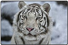 Use7 White Tiger Animal Area Rug Rug Carpet for