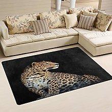Use7 Wild Leopard Print Area Rug Rug Carpet for