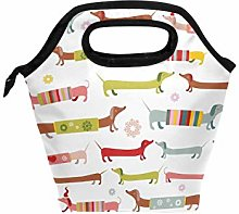Use7 Winter Dachshund Dog Puppy Insulated Lunch