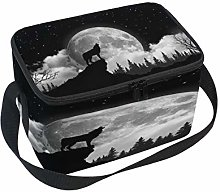 Use7 Wolf Howling Moon Starry Sky Forest Tree
