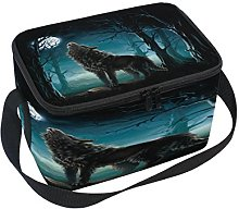 Use7 Wolf Moon Night Forest Insulated Lunch Bag