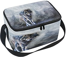 Use7 Wolf through the Mist Insulated Lunch Bag