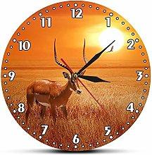 Usmnxo 12 inches frameless African sunset antelope