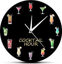 Usmnxo 12 inches frameless alcoholic cocktail hour