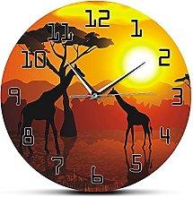 Usmnxo 12 inches Frameless Animal Giraffe Wall Art