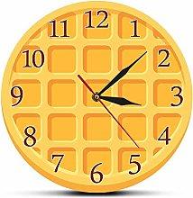 Usmnxo 12 inches frameless cartoon round waffle