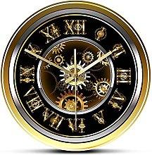 Usmnxo 12 inches frameless clockwork steampunk