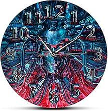 Usmnxo 12 inches frameless novel robot wall clock