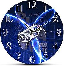 Usmnxo 12 inches frameless room wall clock video