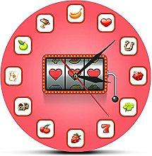 Usmnxo 12 inches frameless slot machine fruit wall