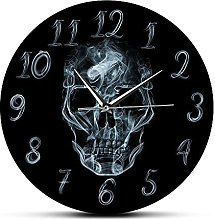 Usmnxo 12 inches frameless wall clock with smoky