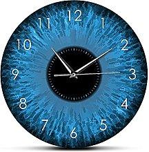 Usmnxo 12 inches rimless glasses wall clock macro