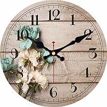 Usmnxo 12inch clock flower design silent life