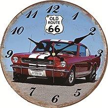 Usmnxo 12inch cool car design clock home