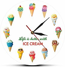Usmnxo 12inches (30cm) cartoon ice cream printing