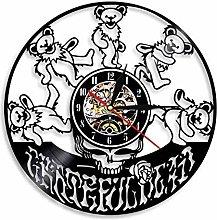 Usmnxo Simple vinyl clock band wall clock vinyl