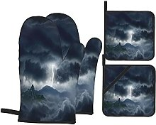 USOPHIA Oven Mitts and Pot Holders Sets of