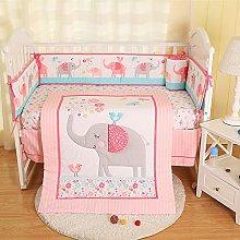 USTIDE 7-piece Girls Nursery Crib Bedding Set Cute