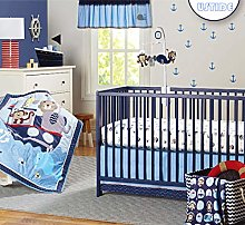 USTIDE 7-Piece Nursery Baby Crib Bedding Set