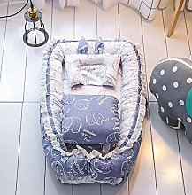 USTIDE Baby Bassinet Breathable Bedding Blue