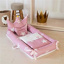 USTIDE Baby Bassinet Breathable Bedding Pink Star