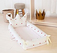 USTIDE Baby Bassinet Cribs 0-24 Months Breathable