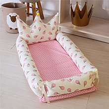 USTIDE Baby Bassinet Pink Ice-cream Breathable