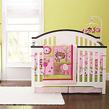 USTIDE Baby Bedding Set Pink Jungle Animals