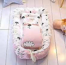 USTIDE Clouds Baby Lounger Pink Baby Bassinet