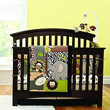 USTIDE Crib Bedding Set with Bumpers 100% Soft