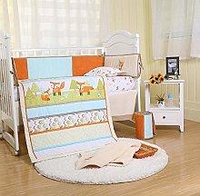 USTIDE Fox Crib Bedding Set Baby Nursery Cot