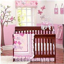 USTIDE Girls Crib Bedding Set Butterfly Floral