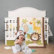 USTIDE Jungle Baby Crib Bedding Set Unisex Bedding