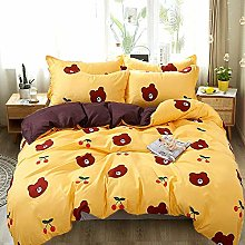 USTIDE Kids Duvet Cover Cute Bear Grils Boys Duvet