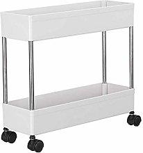 Utility Cart Narrow Kitchen Trolley, Hollow Drain