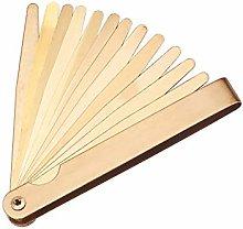 Utoolmart Brass Feeler Gauge Dual Marked Reading