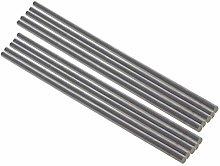 Utoolmart Round Steel Rod, 5mm HSS Lathe Bar Stock