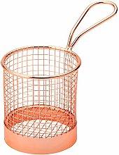 Utopia Mini Presentation Round Fry Basket Copper