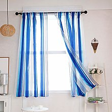 UULIKE--Curtains 1 Pcs Colorful Stripe Tulle