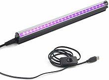 UV LED Black Light Bar, 10W 1ft USB Portable T5 UV